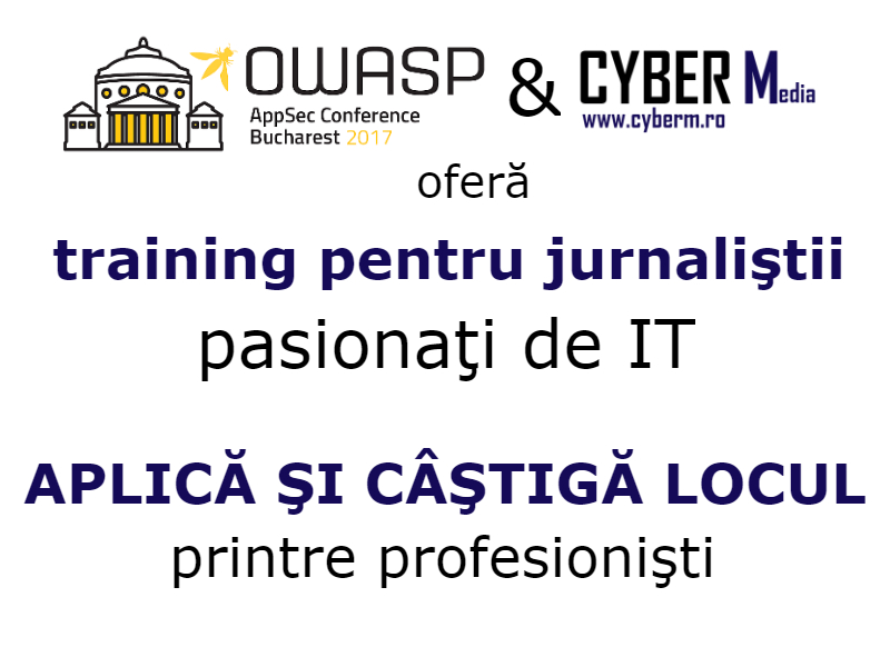 anunt training OWASP jurnalist media