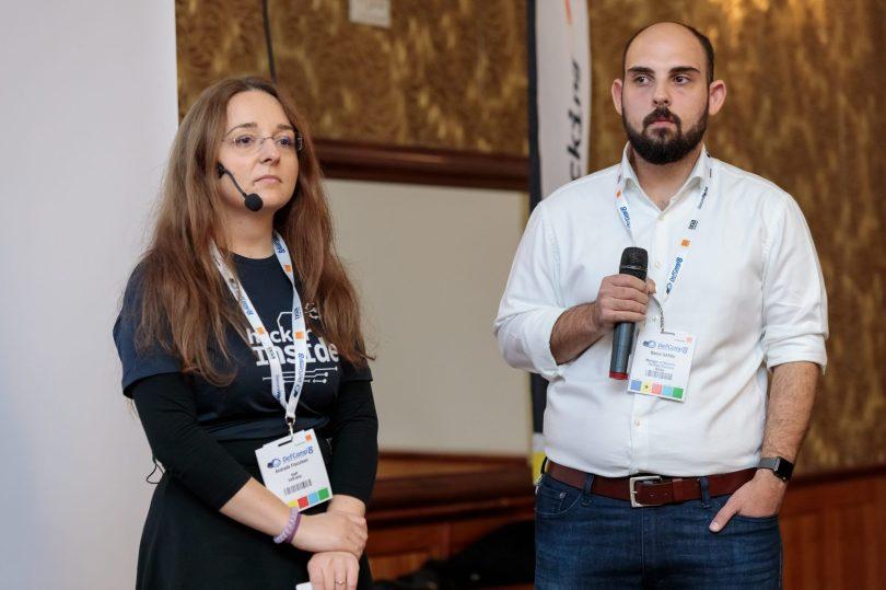 Andrada Fiscutean si Daniel Barbu, la DefCamp 2017