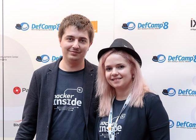 Andrei Avadanei si Flori Dumitrache, la DefCamp 2017